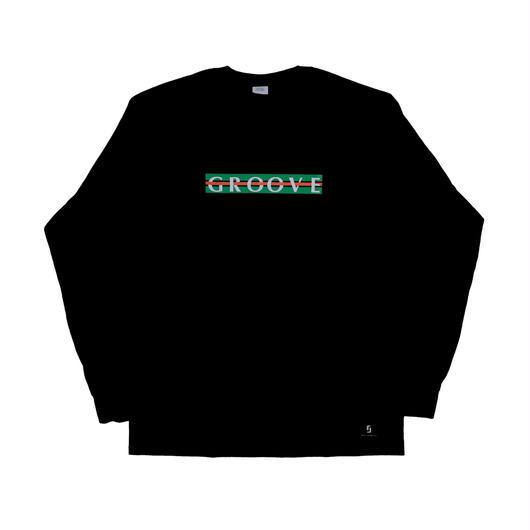 "鎖GROOVE LONG SLEEVE TEE  ""BLACK"""