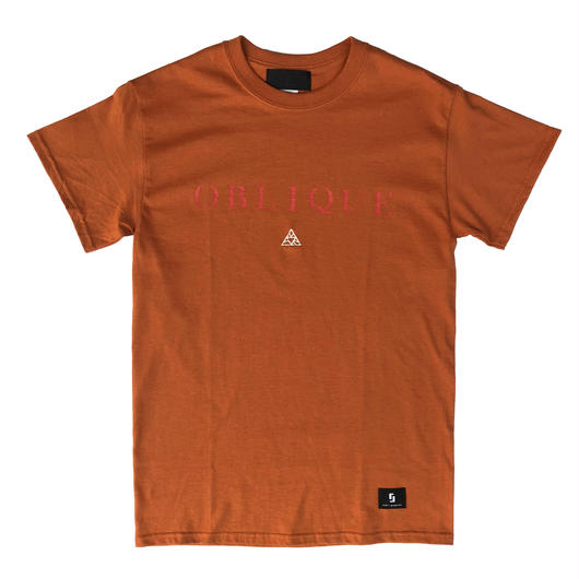 """OBLIQUE"" TEE _ ORANGE"