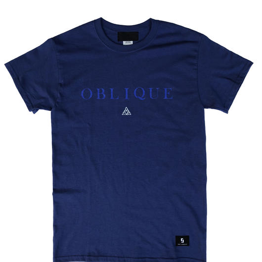 """OBLIQUE"" TEE _  MIDNIGHT BLUE"