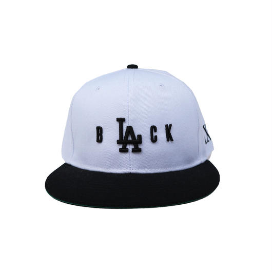 """B  LA  CK"" Snap Back Cap   ""WHITE"""