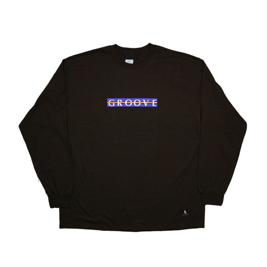 "鎖GROOVE LONG SLEEVE TEE  ""BROWN"""