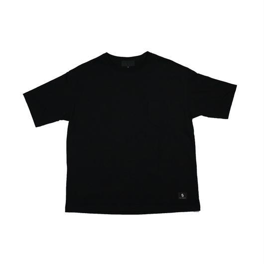 "BIG ""9"" PKT TEE  ""BLACK * BLACK"""
