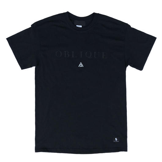 """OBLIQUE"" TEE _  BLACK"