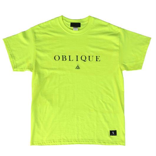 """""""OBLIQUE"""" TEE _ N.YLW"""