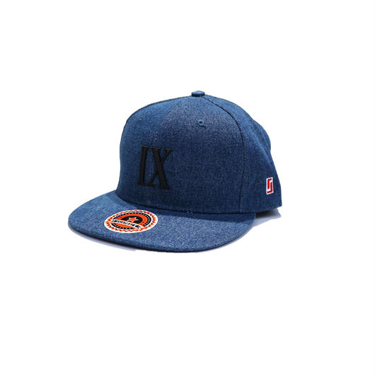 """IX"" Snap Back Cap ( INDIGO DENIM)"