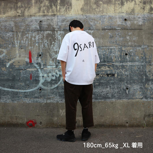 "BIG ""9"" PKT TEE  ""WHITE* BLACK"""