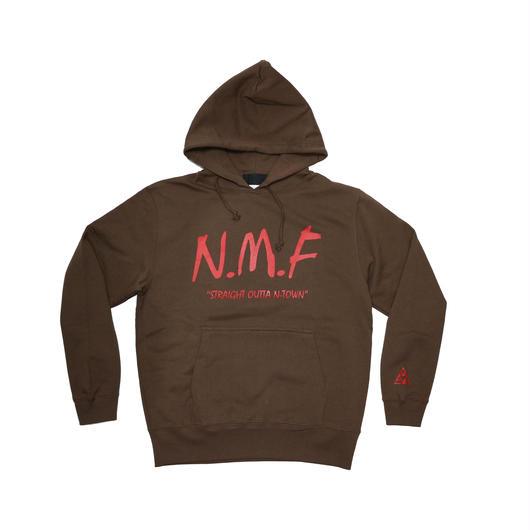 """""""N.M.F"""" HOODY  『BROWN』"""