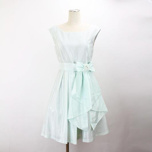 【訳あり特価】シャンタンパニエベルト付ドレス_0111425