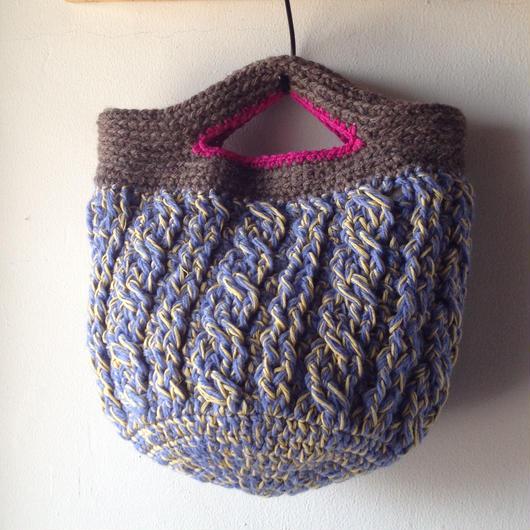 sale なわ編みの丸底バッグ