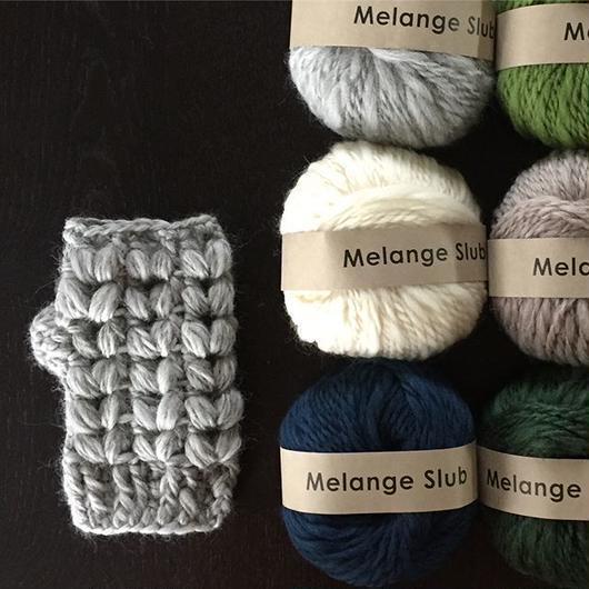 ★再入荷★変わり玉編みのハンドウオーマーキット-編み図毛糸つきキット-