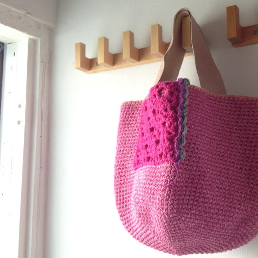 Sale! ピンクシルクのレースバッグ