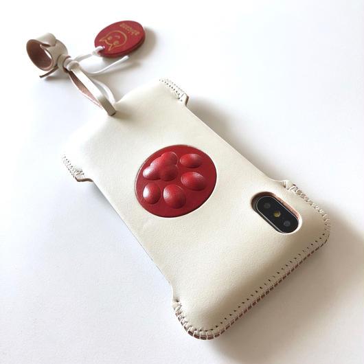 【1点物】abicaseXSJ/iPhoneX用シンプルジャケット/ニクキュウ