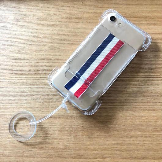 【PVCアビケース】abicaseVinyl/iPhone8用リボンウォレットジャケット