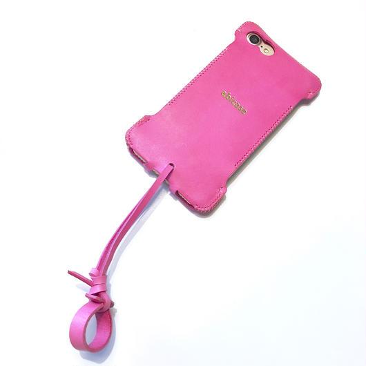 【1点在庫あり】abicase8 wj(iPhone8用)ウォレットジャケット/イタリアンレザー/ピンク