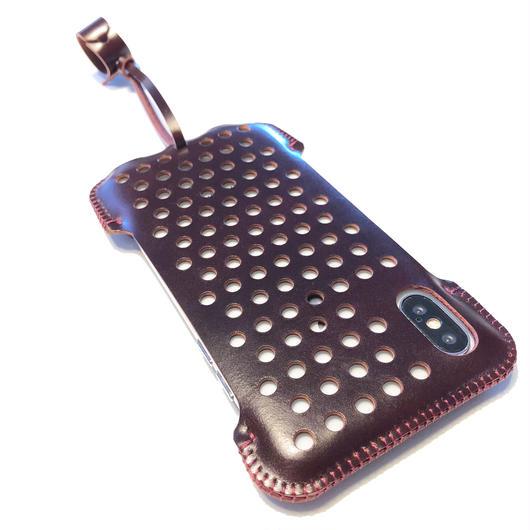 予約受付中【コードバン】abicaseXSJ/iPhoneX用パンチングジャケット