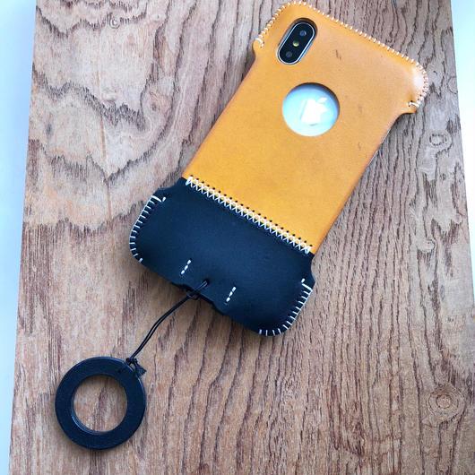 【アウトレット】iPhoneX用イタリアンオイルレザー製シンプルジャケット/C