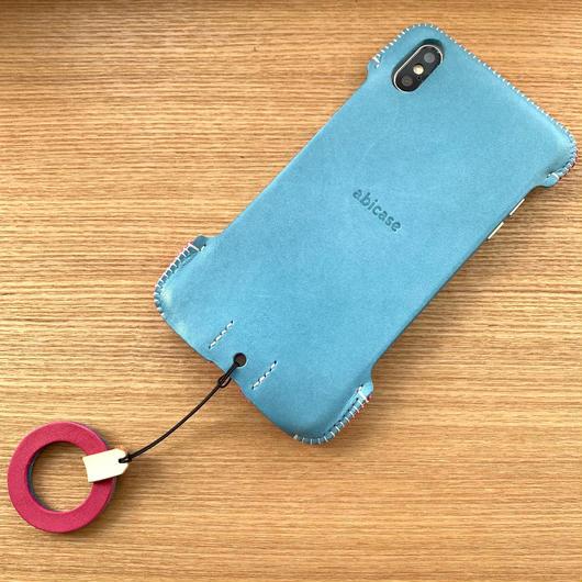 1点物【iPhone XS Max】トリコロールジャケット スカイブルー/ピンク/ホワイト
