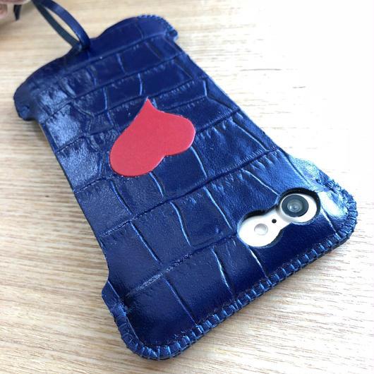 1点物【トリコロール】iPhone8 sj  クロコ型押しタッセルジャケット