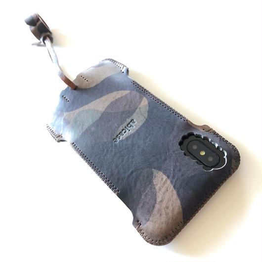 abicaseXWJ/iPhoneX用/カモフラカモフラツートンウォレットジャケット