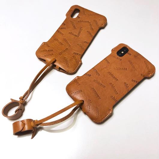 【オイルレザー】abicaseXSJ/iPhoneX用シンプルジャケット