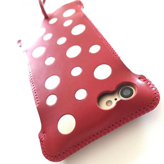 【1点物】abicaseWJ8DOT/iPhone8&7用ドットウォレットジャケット