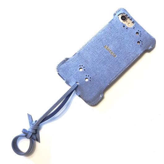 【サンプルセール】iPhone8用シャンブレーウォレットジャケット