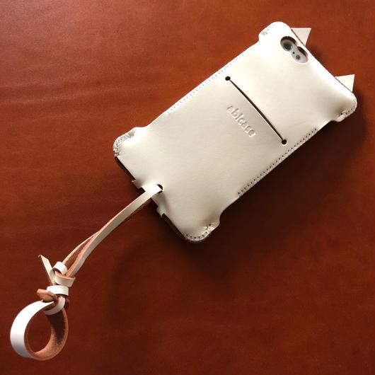 【アウトレット】iPhone6s用 白猫ウォレットジャケット