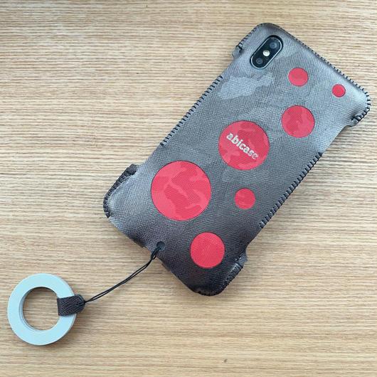 【アウトレット】iPhone XS Max 特殊迷彩革ウォレットジャケット