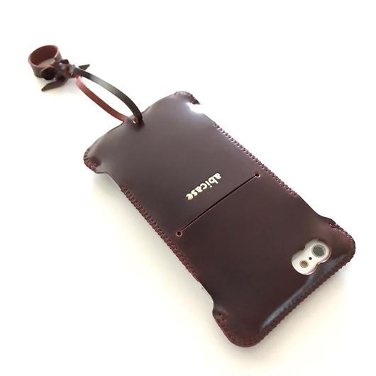 【バーガンディコードバン製】iPhone 6s cwj cordovan ウォレットジャケット