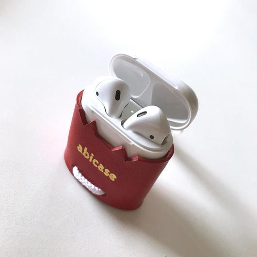 【1点物】abiPods/AirPods用レザーケース/猫耳