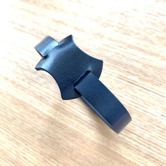 【新革】abicaseDogCollar/aiboの首輪/ベルギーレザー/ネイビー
