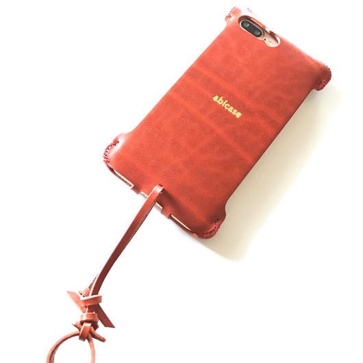 【予約受付】iPhone7 Plus sj シンプルジャケット ルガトオレンジ