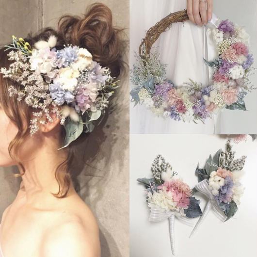 『tatarika』(wreathebouquet)3items set...