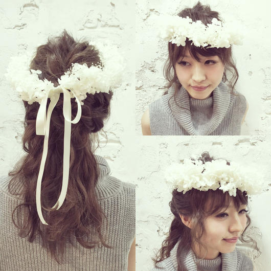 【花冠】〜ホワイトアナベル〜