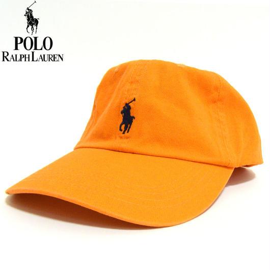 POLO RALPH LAUREN ポロ ラルフローレン キャップ ローキャップ スモール ポニー オレンジ