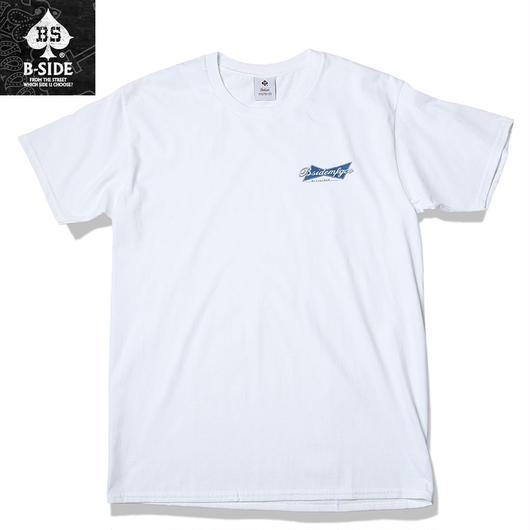 B-SIDE【ビーサイド】 Tシャツ メンズ 半袖 ホワイト Lサイズ