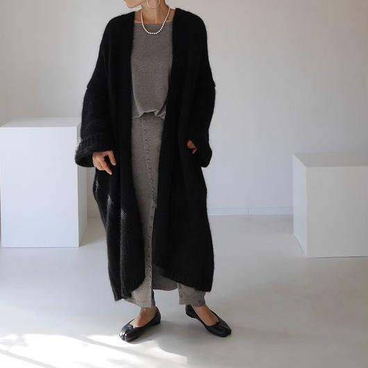 ※RESTOCK※KID MOHAIR WIDE COVER KNIT GOWN (BKLACK)