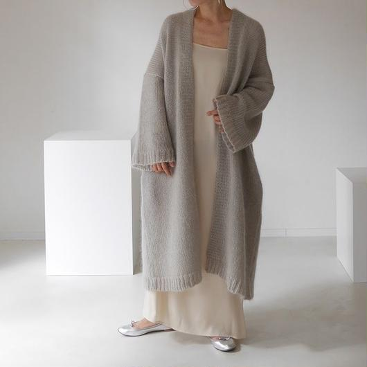 ※RESTOCK※KID MOHAIR WIDE COVER KNIT GOWN (GREGE)