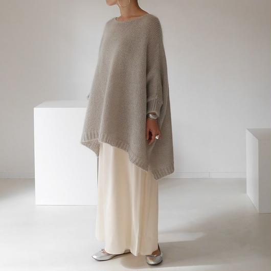 ※RESTOCK※KID MOHAIR WIDE COVER PULLOVER (GREGE)