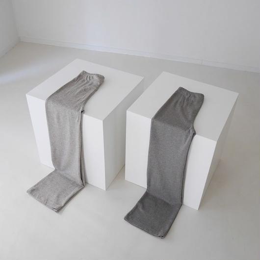 YAK COTTON FLARE PANTS(BAKE BEIGE/SAND GRAY)