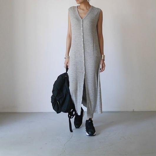 ◆RESTOCK◆Linen-Cotton Rib ReversibleDress LeggingsSET/GRAY