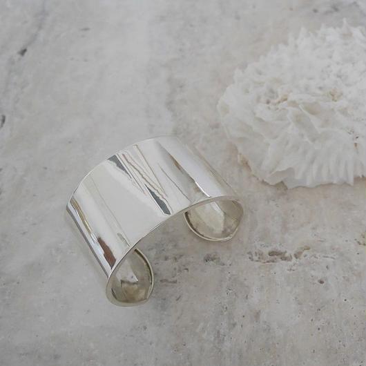 ■RESTOCK■Silver.925 WIDE PLATE BANGLE (4.0cm)