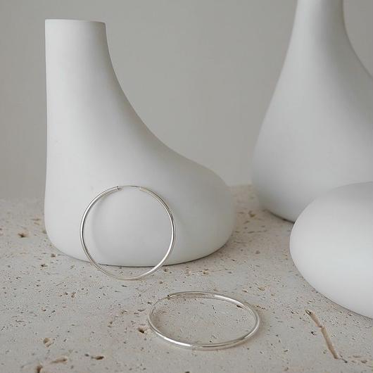 Silver.925 Hoop Pierce/M