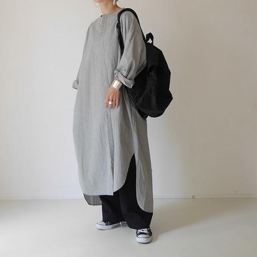 ■RESTOCK■OHMI  TYPEWRITER  SHIRT-DRESS(GRAY)