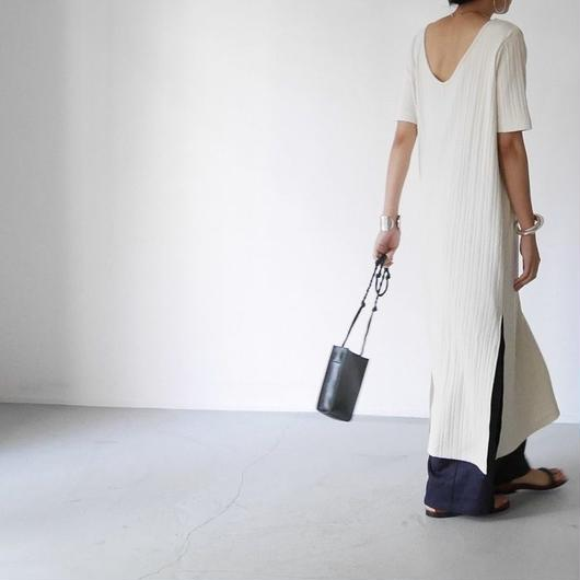 Needle Drawing Rib-DRESS(WHITE)