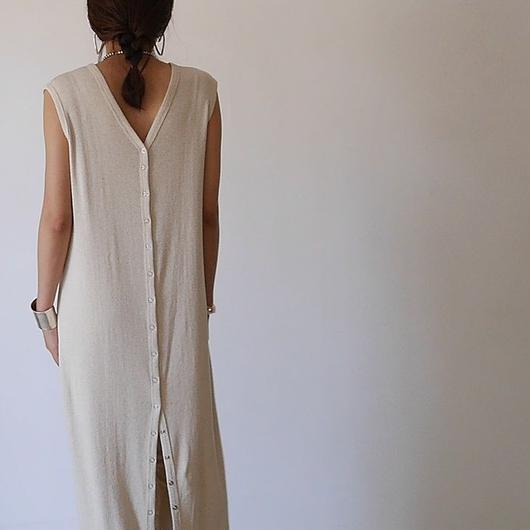◆RESTOCK◆Linen-Cotton Rib ReversibleDress LeggingsSET/OATMEAL