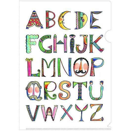 A4クリアファイル & ポストカード(アルファベット)