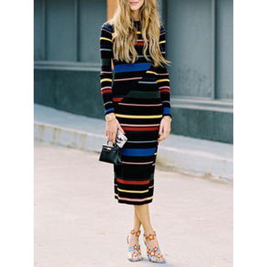 Stripedドレス
