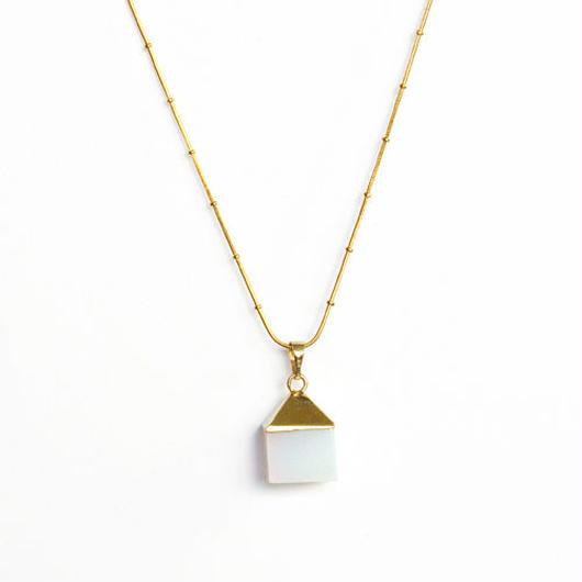 Opal Cubeネックレス