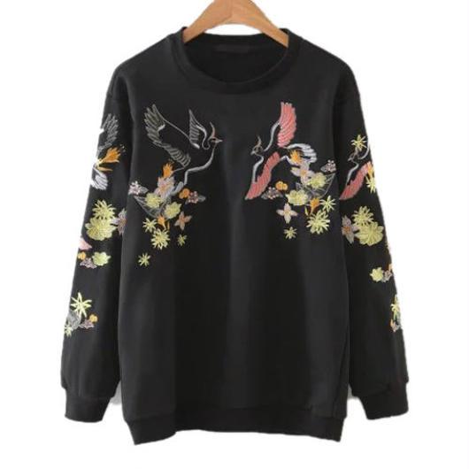 Flower&Birds スウェットシャツ